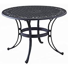 Patio Dining Table Amazon Com Meadowcraft Round Mesh Patio Dining Table Glenbrook