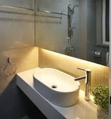 bathroom led lights behind bathroom mirror home design awesome