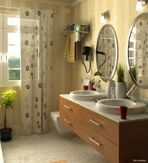 beige and brown bathroom tiles sleek dark gray wall painted cool