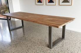 rustic metal and wood dining table live edge and slab dining and conference tables and tops inside