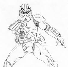 clone trooper wall display armor captain fordo phase ii armor by kuk man lineart star wars