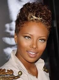 short hairstyles for black women spiked on top small curls in back and sides of hair high blonde spiked short black women haircut blondes woman