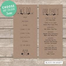 simple wedding program wedding program printable pdf rustic floral wedding programs