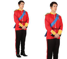 Prince Charming Costume Toy Soldier Mens Fancy Dress Costume Adults Handsome Prince