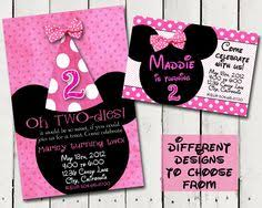 minnie mouse birthday invitations diy do it your self