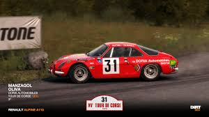renault alpine a110 rally renault alpine a110 tour de corse 1970 manzagol racedepartment