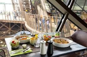 restaurant cuisine dinner on the floor of the eiffel tower restaurant 58 tour