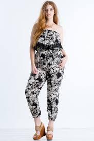 all white plus size jumpsuit s plus size jumpsuits tropical ruffle jumpsuit a gaci