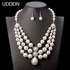 big pearl necklace wedding images Buy uddein wedding jewelry bride necklace big jpg