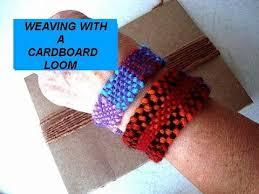 bracelet craft hand images Hand weaving cardboard loom basic steps how to diy make a jpg