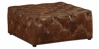 large square leather tufted ottoman club furniture