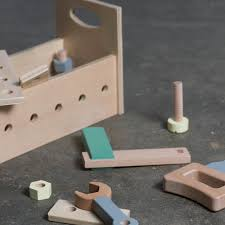 set of 6 wooden tools multicoloured sebra toys and hobbies teen