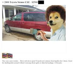 Doge Meme Car - that moment when doge bob ross wants to sell a car