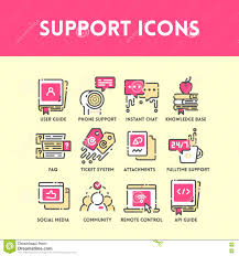 computer and technical support icon stock vector image 50591062