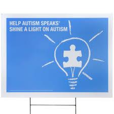 autism speaks light it up blue autism speaks yard sign autism speaks