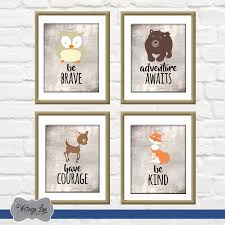 Woodland Animals Nursery Decor Woodland Nursery Prints Animal Nursery Digital Prints Animal