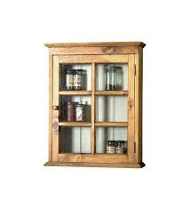 Wall Cabinet Glass Door Pine Wall Cabinet With Glass Pane Door Plow Hearth