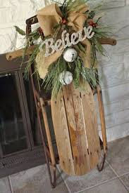 Outdoor Sleigh Decoration Best 25 Christmas Sled Ideas On Pinterest Decorating Porch For