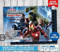 avengers birthday invitation 1 by templatemansion on deviantart