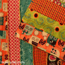 how to make a fabric strip rag quilt the crafty blog stalker