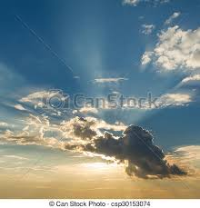 beautiful blue sky with clouds and sun rays picture search photo