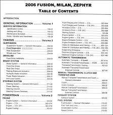 2006 ford fusion mercury milan lincoln zephyr repair shop manual 2