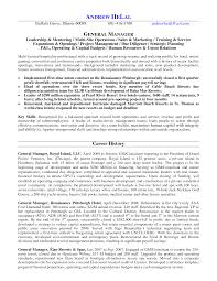 Sample Resume General by Hotel General Manager Resume Berathen Com