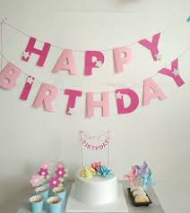 aliexpress com buy new rose baby pink happy birthday banners