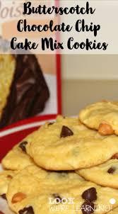 butterscotch chocolate chip cake mix cookie recipe