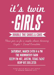 wording ideas for invites baby shower twin girls couples shower