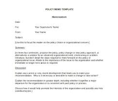 Memo Template Free 15 Policy Memo Templates Free Sle Exle Format
