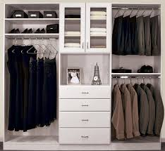 closet design with hutch and glass door cabinet