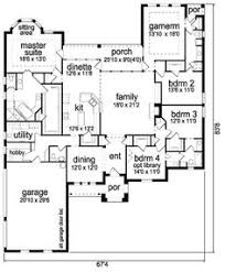 House Plans With Game Room Country Style House Plan 4 Beds 2 5 Baths 2804 Sq Ft Plan 63