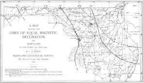 magnetic declination map file magnetic declination map of maryland plate xvii wbclark 1897