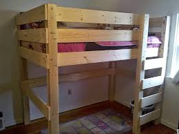 Wood Frame Bunk Beds 13 Free Loft Bed Plans The Will