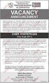 pakistan bureau of statistics pbs jobs 2017 jobs pakistan jobz pk