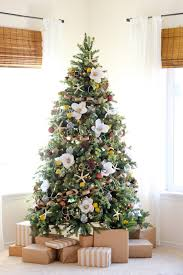 christmas artificial white christmas tree withights pink