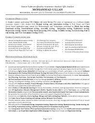 Quality Assurance Analyst Resume Qa Analyst Resume Underwriting Credit Analyst Resume David P