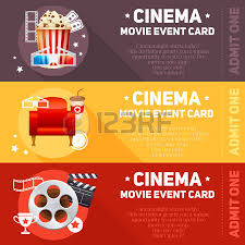 realistic cinema movie poster template with film reel clapper