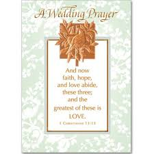 wedding wishes and prayers a wedding prayer card the catholic company