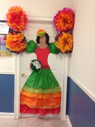 tissue paper mexican door decoration classroom ideas pinterest