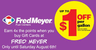 fred meyers gift registry winner announced last week to earn 4x fuel point on gift card at