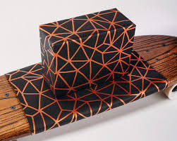 copper wrapping paper organic geometry wrapping paper black copper