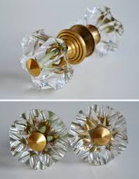 Vintage 60s Home Decor by Vintage Glass Doorknobs 60s Home Decor Retro Crystal Knobs Boho