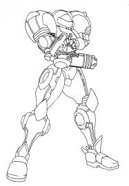 metroid coloring pages funycoloring