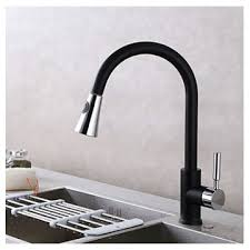 black kitchen sink faucets contemporary pull out deck mounted pullout spray ceramic valve