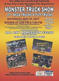 monsters trucks shows monster truck show set for today at jefferson county fairgrounds