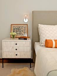 Tall Bedside Tables by Tips For A Clutter Free Bedroom Nightstand Hgtv