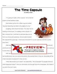 the time capsule super teacher worksheets