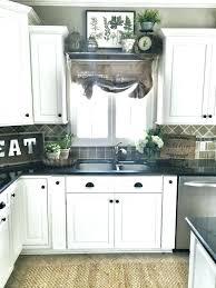 ideas for kitchen windows kitchen window treatment ideas brescullark com